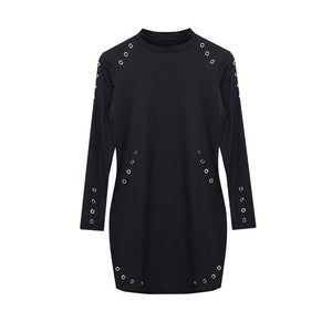 Holes mini dress-store-nir