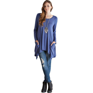 Long Sleeve Tunic With Pockets-store-nir
