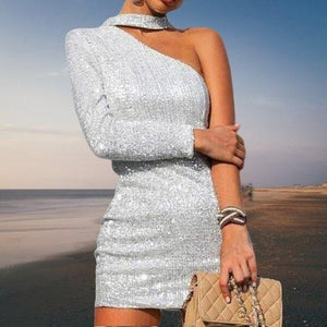 Nightclub One Shoulder Dress-store-nir