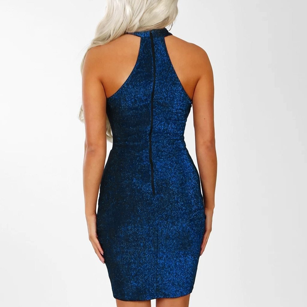Sparkly Off Shouder Mini Dress-store-nir