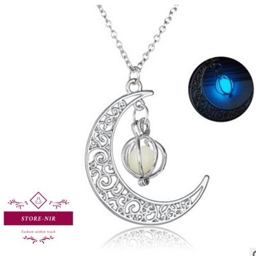 Stone shine moon necklaces - store-nir