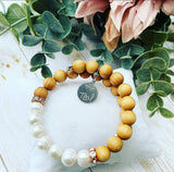 Rose Wood and Freshwater Pearls Vitality