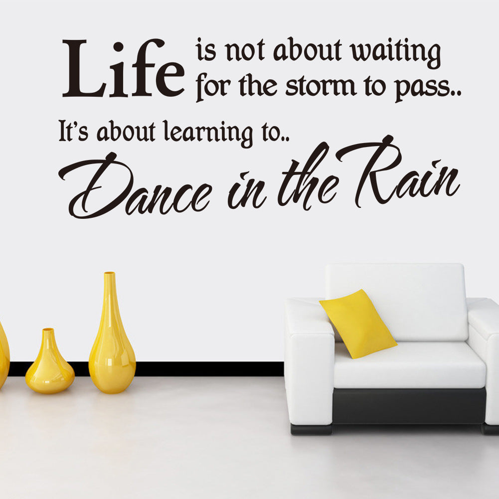 Life is not about waiting for the storm to pass inspirational life is not about waiting for the storm to pass inspirational quotes wall stickers diy home amipublicfo Images