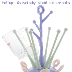 2017 New Safe Baby Bottle Drying Racks Infant Feeding Shelf PP+ABS Healthy Bottle Drainer Pacifier Holder Baby Bottle Dryer - Weebumz