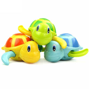 Cute Turtle Animal Wind Up Chain Bath Water Toy Float Pool Swimming Tub Bathtub Playing Toy for Boys & Girls