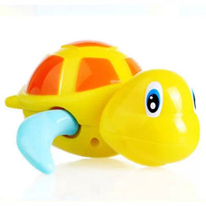 Cute Turtle Animal Wind Up Chain Bath Water Toy Float Pool Swimming Tub Bathtub Playing Toy for Boys & Girls - Weebumz