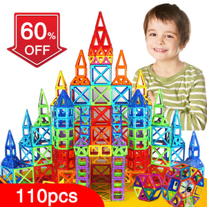 New 110pcs Mini Magnetic Designer Construction Set Model & Building Toy Plastic Magnetic Blocks Educational Toys For Kids Gift - Weebumz