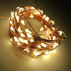 33ft 100 LED String Solar Fairy Lights, for Wedding Decorations or Patio