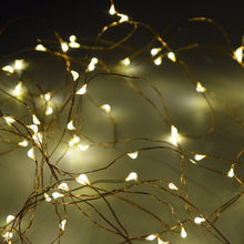 33ft 100 LED String Solar Fairy Lights, for Wedding Decorations or Patio - Weebumz