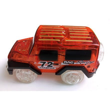 LED Lights-up Cars for Magic Tracks Electronics Car Toys With Flashing Lights For Kids - Weebumz