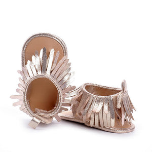 Baby Sandals for Girls - Spring/Summer 2017. Kids Soft Sole Toddler/Newborn Tassels Sandals/Shoes - Weebumz