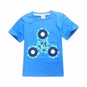 Hand Spinner Boy T-shirt Children Printed Top. Short Sleeve Clothing boys top kids clothes T-shirts - Weebumz