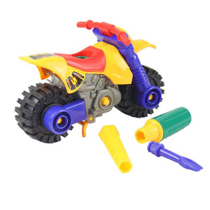 Kids Child Disassembly Assembly Cartoon Motorcycle Toy Christmas Gift Assembly Motorcycle Model - Weebumz