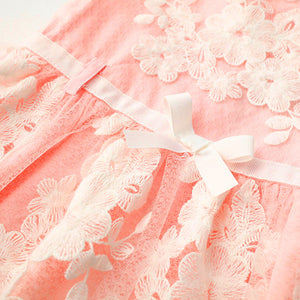 Girls dresses Toddler Kids Baby Girls Clothes Embroidery Lace Party Wedding Princess Dresses drop shipping - Weebumz