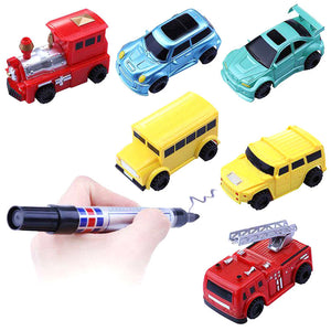 Newest 1Pcs Magic Mini Pen Inductive Toy Car Draw Lines Induction Rail Track Car Novelty Cars for Children - Weebumz