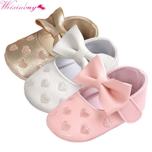 12 Colors Bebe Brand PU Leather Baby Boy Girl Baby Moccasins Moccs Shoes Bow Fringe Soft Soled Non-slip Footwear Crib Shoes - Weebumz