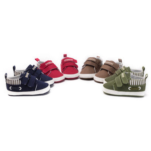 New Baby Boys Girls Canvas Shoes High Quality Two Strap Newborn Baby Toddler Fashion First Walkers For 0-18 Month - Weebumz