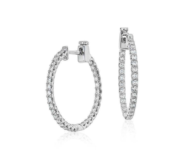Classic Diamond Hoops - Oval (1.80 ct tw)