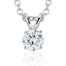 Diamond Pendant Stud -14k White Gold (1/3 ct - 2ct tw)