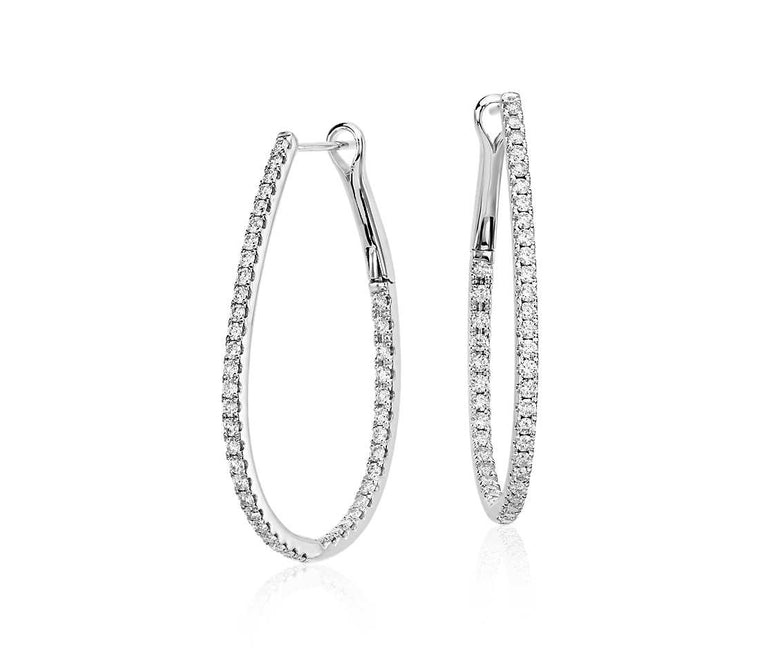 Classic Diamond Hoops - Long (5 ct tw)