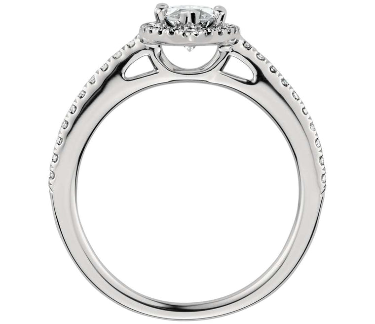 Engagement Ring - Halo Marquise Cut