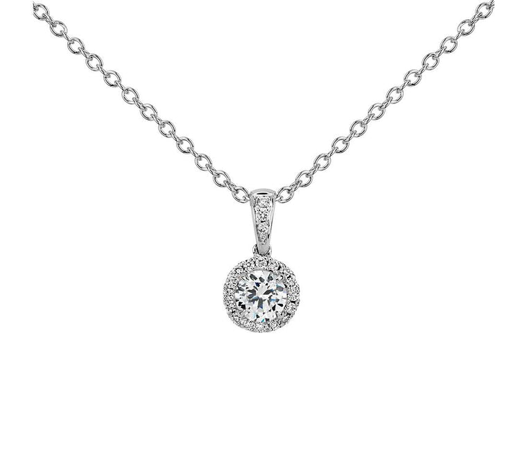 Diamond Pendant Halo - 14k White Gold (1.25 ct tw)