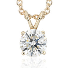 Diamond Pendant Stud -14k Yellow Gold (1/3 ct - 1ct tw)