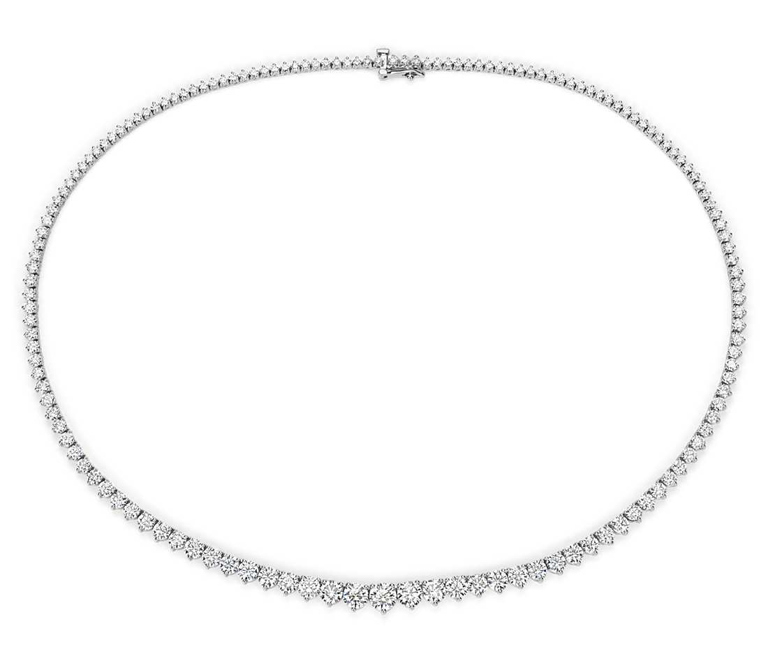 Diamond Pendant Eternity - 18k White Gold (15 ct tw)