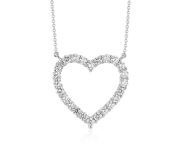 Diamond Pendant Heart - Platinum (2 ct tw)