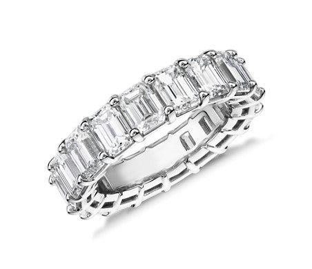 Eternity Band - Emerald Cut Diamond (7 ct tw)