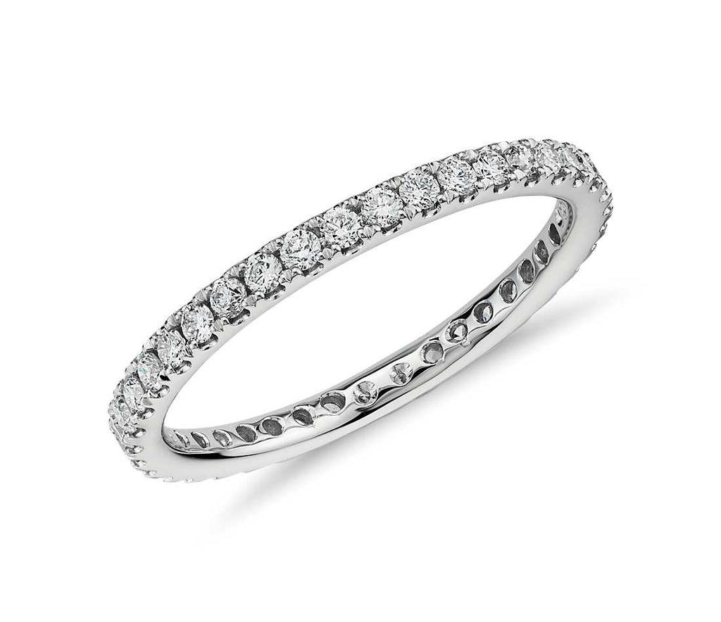 2126294872c26 Eternity Band - Riviera Pave 14k White Gold (1 2 ct tw) – Klare Jewelers