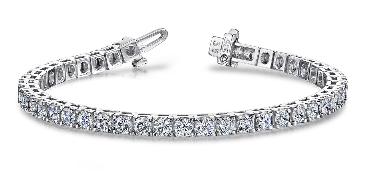 Diamond Tennis Bracelet - 14K White Gold (2ct-16ct)