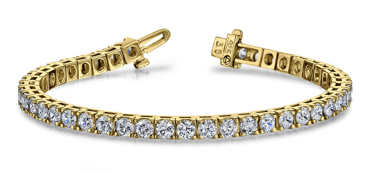 Diamond Tennis Bracelet - 14K Yellow Gold (2ct-16ct)