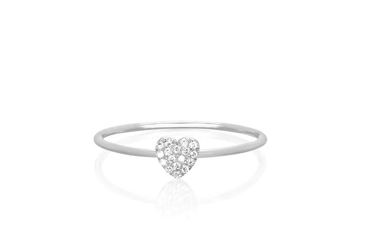 Diamond Mini Heart Ring