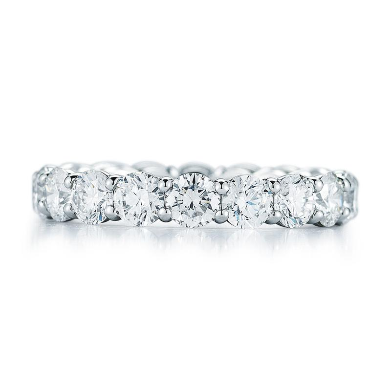 Eternity Band - Scallop 14K White Gold (2ct-8ct)