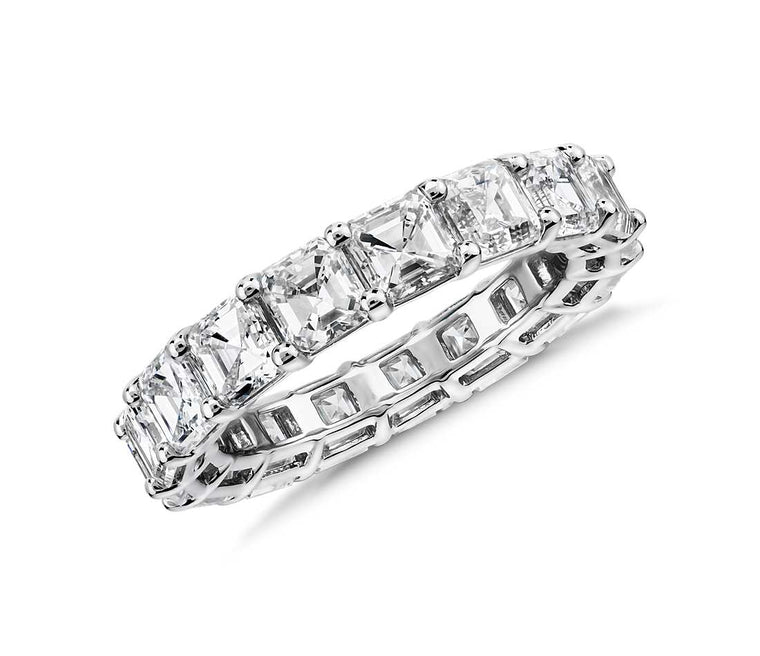 Eternity Band - Asscher Cut Diamond (6 ct tw)