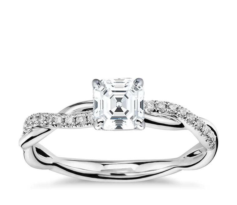 Engagement Ring - Vintage Asscher Cut