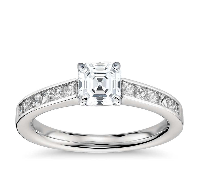 Engagement Ring - Channel Set Asscher Cut