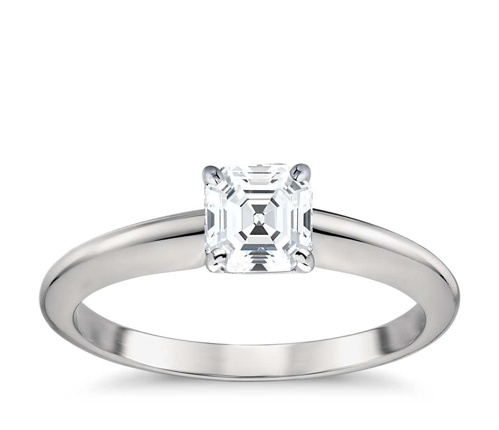 Solitaire Engagement Ring -  Classic Four- Prong Princess