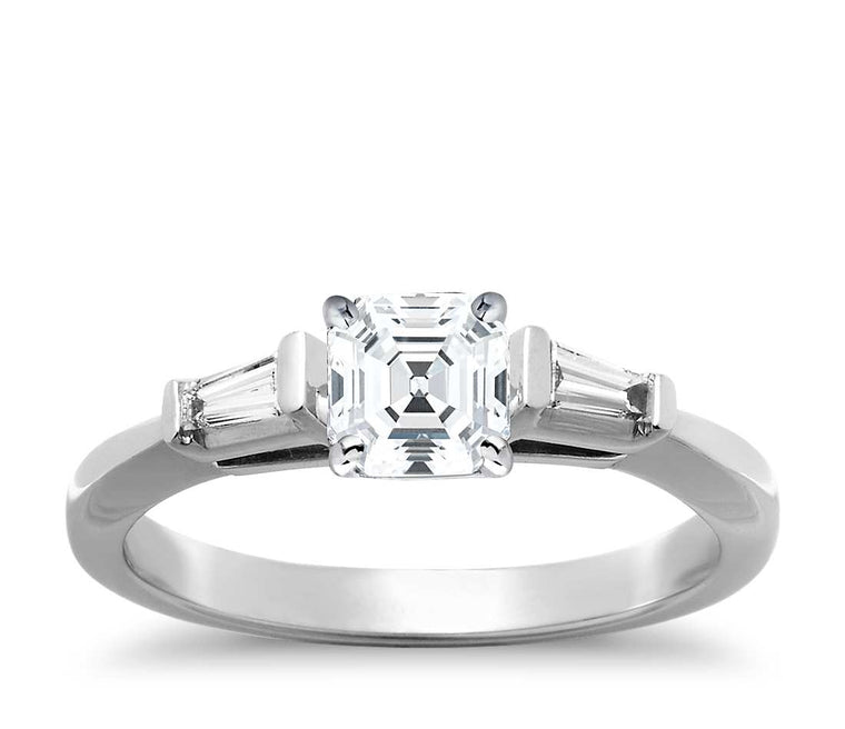Engagement Ring - Three Stone Asscher Cut