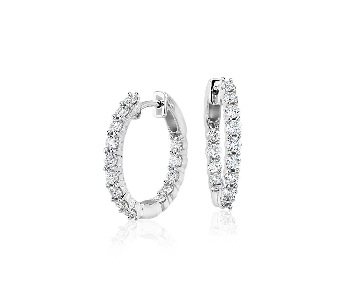Classic Diamond Hoops - Round (1 ct tw)