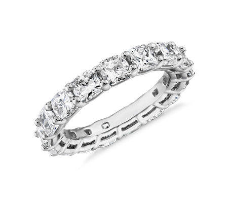 Eternity Band - Cushion Cut Diamond (5 ct tw)