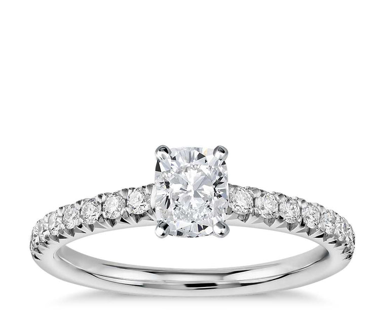 Engagement Ring - Pave Cushion Cut