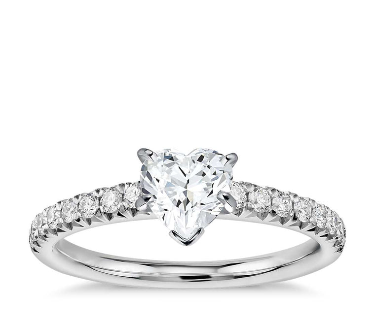 Engagement Ring - Pave Heart Cut