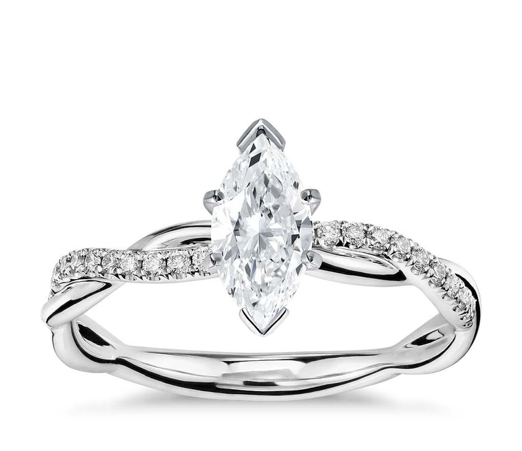Engagement Ring - Vintage Marquise Cut