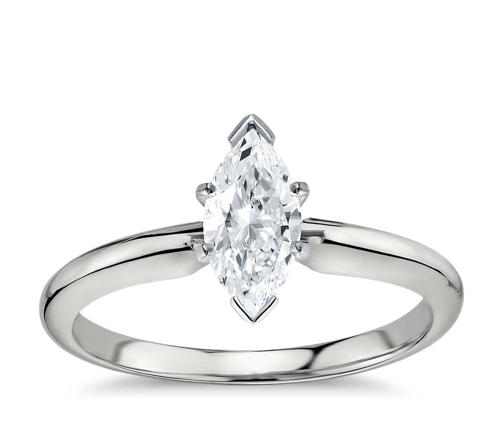 Solitaire Engagement Ring - Classic Six- Prong Pear
