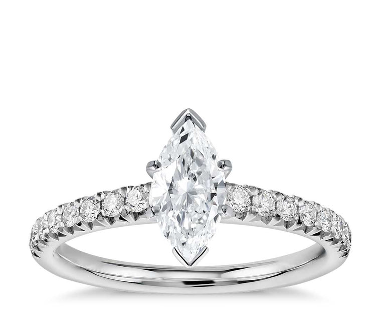 Engagement Ring - Pave Marquise Cut