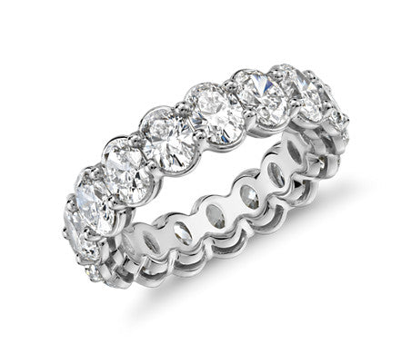 Eternity Band - Oval Cut Diamond (5 ct tw)