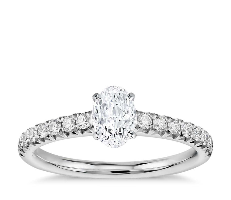 Engagement Ring - Pave Oval Cut