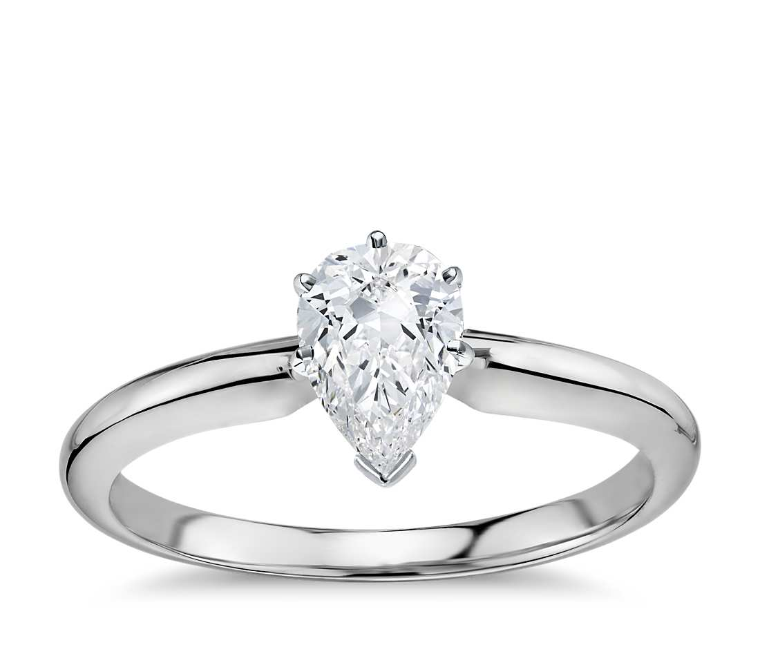 Solitaire Engagement Ring -  Classic Six- Prong Round